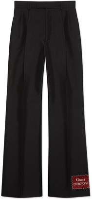 Gucci Wool mohair trousers with Eterotopia