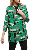 Jaeger Graphic Jacquard Blazer, Green/Multi