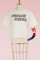 Olympia Le-Tan Cotton Femme fatale t-shirt