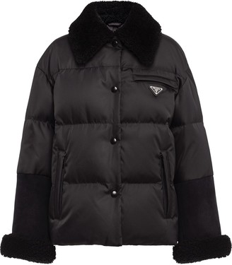 Prada Shearling Detail Padded Jacket