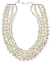 Majorica Four-Strand Manmade Pearl & Crystal Necklace