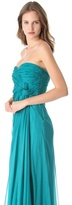 Alberta Ferretti Collection Strapless Gown