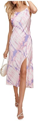 ASTR the Label Bias High Neck Midi (Purple/Pink Tie-Dye) Women's Clothing