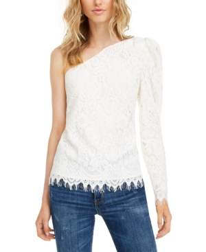 Leyden Asymmetric Lace Top