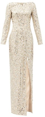 Rasario Sequinned Boat-neck Tulle Dress - Silver