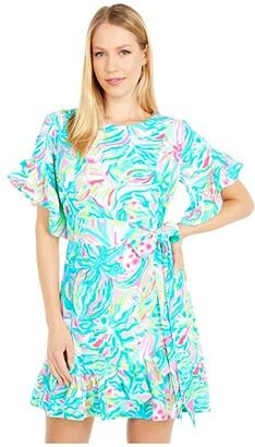 Lilly Pulitzer Darlah Stretch Dress (Multi One In A Melon) Women's Dress