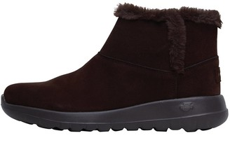 Skechers Womens On The Go Joy Bundle Up Boots Chocolate