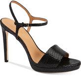 Calvin Klein Women's Surie Ankle-Strap Platform Dress Sandals