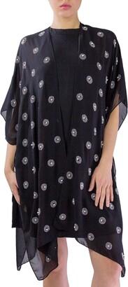 Just Jamie Chiffon Kimono with All Over Circles