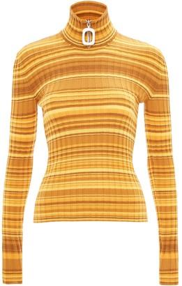 J.W.Anderson Neckbang ribbed striped jumper