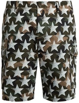 Valentino Camustars-print cotton-drill shorts