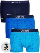 Lacoste 3pk Pattern/Plain Trunk