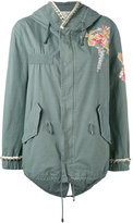 Amen floral embroidered hooded jacket - women - Cotton/Viscose/metal/glass - 40