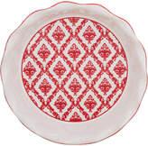 Ten Strawberry Street Red Damask 28Oz Pie Dish