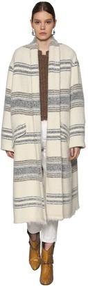 Etoile Isabel Marant Striped Wool Blend Coat
