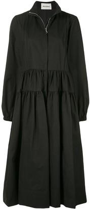 Molly Goddard High-Neck Flared Coat