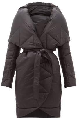 Norma Kamali Padded Shawl Lapel Technical Shell Coat - Womens - Black