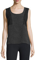 CNC Costume National Sleeveless Scoop-Neck Combo Top, Multi