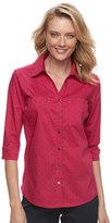 Croft & Barrow Women's Knit-to-Fit Shirt