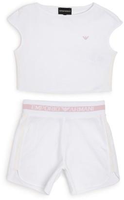 Emporio Armani Kids Logo Top and Shorts Set (4-14 Years)