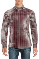 Black Brown 1826 Gingham Cotton Sportshirt