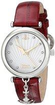 Vivienne Westwood Women's VV108WHRD Trafalgar Analog Display Swiss Quartz Red Watch