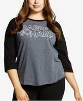 Soffe Plus Size Active Printed Baseball T-Shirt