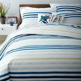 west elm Watercolor Stripe Duvet Cover