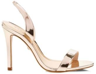 Schutz Luriane Metallic Leather Slingback Sandals