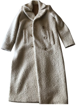 Aniye By White Wool Trench Coat for Women