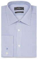 Jeff Banks Big And Tall Blue Fine Striped Extra Long Tailored Shirt