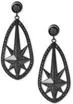 Michael Kors Black Ion-Plated Pavé Starburst Drop Earrings, a Macy's Exclusive Style
