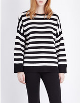 The Kooples Stripe-print cashmere jumper