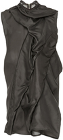 Rick Owens Sleeveless Rouched Tunic