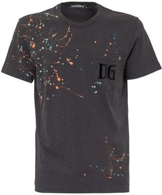 Dolce & Gabbana Paint Splatter T-Shirt