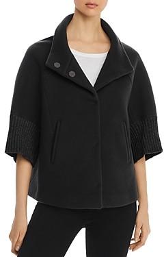 Herno Metallic Rib-Knit Cape Coat - 100% Exclusive