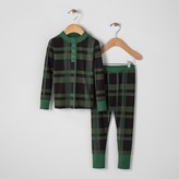 Hearth & Hand with Magnolia Toddlers Pajama Set 2pc - Green Plaid