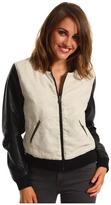 Vince Camuto TWO by Baseball Jacket (Rich Black) - Apparel