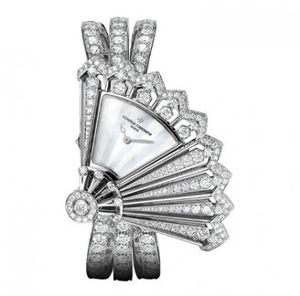 Vacheron Constantin Heures Creatives Diamond Silver Dial Ladies Watch 37531/F04G-B060