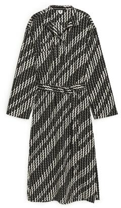 Arket Lyocell Nylon Belted Dress