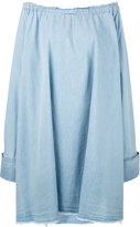 Marques Almeida Marques'almeida - chambray oversize dress - women - Cotton - XS