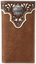 Ariat Ivory Overlay Concho Rodeo Wallet