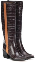 Chloé Vinny embossed leather boots