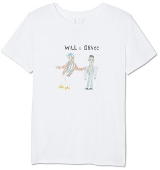 Unfortunate Portrait The Will Grace Tee In White - XS
