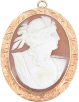 One Kings Lane Vintage Victorian Shell & Gold Cameo