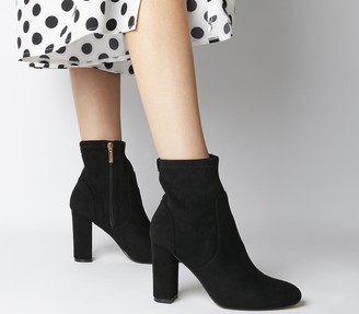 Office Asia Block Heel Stretch Boots Black