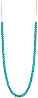 ginette_ny Mini Boulier Turquoise Necklace - Rose Gold
