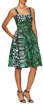 Oscar de la Renta Printed Fit And Flare Dress