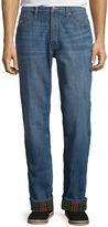 ST. JOHN'S BAY St. John's Bay Flannel-Lined Cotton Denim Pants