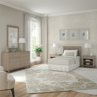 Bush Furniture Somerset Twin Size 5 Piece Bedroom Set by in Ash Gray